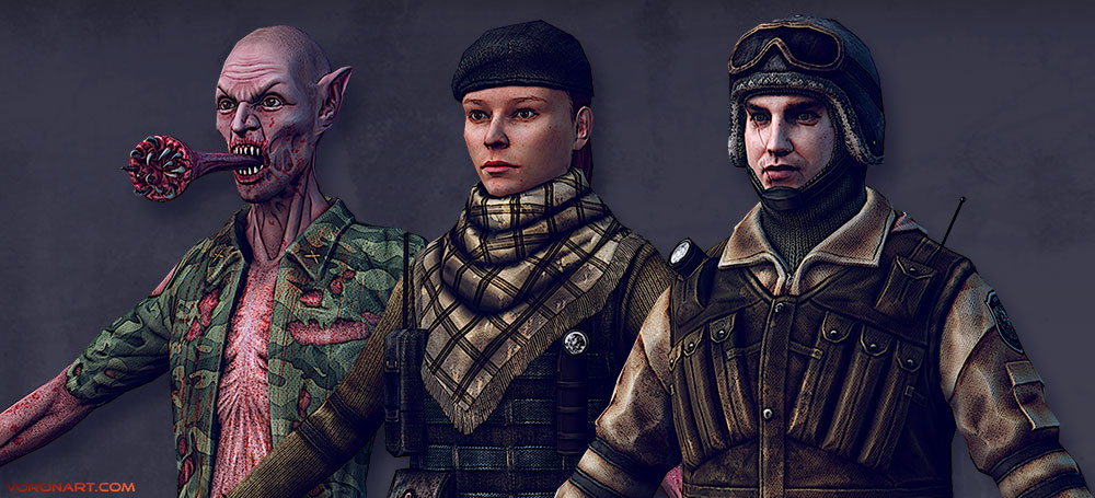 metro-2033 online game real-time 3d-characters