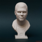 Male bust portrait 3d pritn