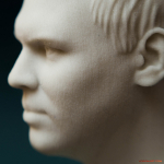 Male bust portrait 3d pritn detalization