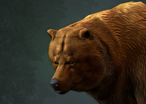 Animated brown bear 3d character