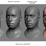 3d male head viewport screenshot