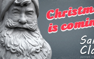 Santa Claus portrait 3D model. Christmas is coming!