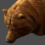 animated bear 3d model realtime render