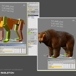 animated bear 3d model skeleton