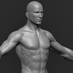 character high poly 3d model sculpt