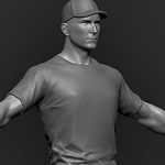 Clothing set #1 high poly 3d model sculpt