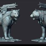 cat 3d print ready sculpture