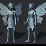 fairy-2 3d print ready sculpture