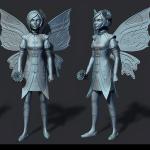 fairy-2 3d print ready sculpture