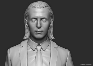 Full Body 3D Portrait. Digital Sculpting for 3d print