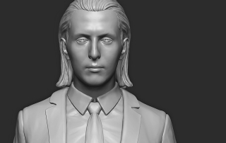 Full Body 3D Portrait. Digital Sculpting for 3d print