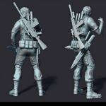 maxim 3d print ready sculpture