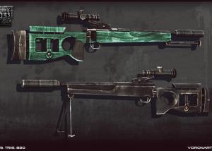 3d Firearms. SV-99 sniper rifle 3d model