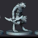 werewolf 3d print ready sculpture