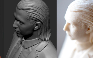 Ростовой Портрет. 3D Печать. Full body Portrait. Polyamide 3d print.