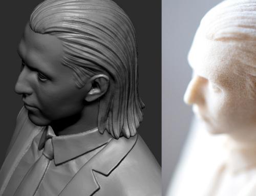 Портрет. 3D Печать из полиамида.