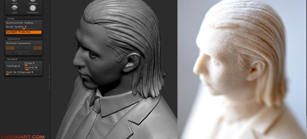 Ростовой Портрет. 3D Печать. Full body Portrait. Polyamide 3d print.