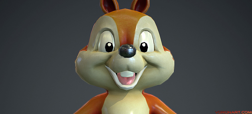 3d Chipmunk. Cartoon Character