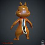 3d Chipmunk. Low Ploy Character