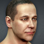 Textured Male Heads 3d sculpting