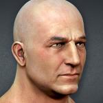 Textured Male Heads 3d sculpting