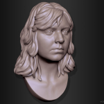 Woman. Photo based 3d Portrait sculpture