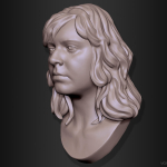 Olga. Woman portrait 3d sculpture