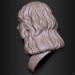 Head 3d sculpture. Woman portrait