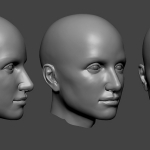 Female head sculpture. Нigh poly 3d model