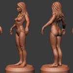 Buy girl high poly 3D-model