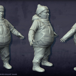 fat boy high poly 3d-character
