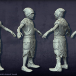 boy high poly 3d-character
