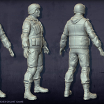 soldier high poly 3d-character