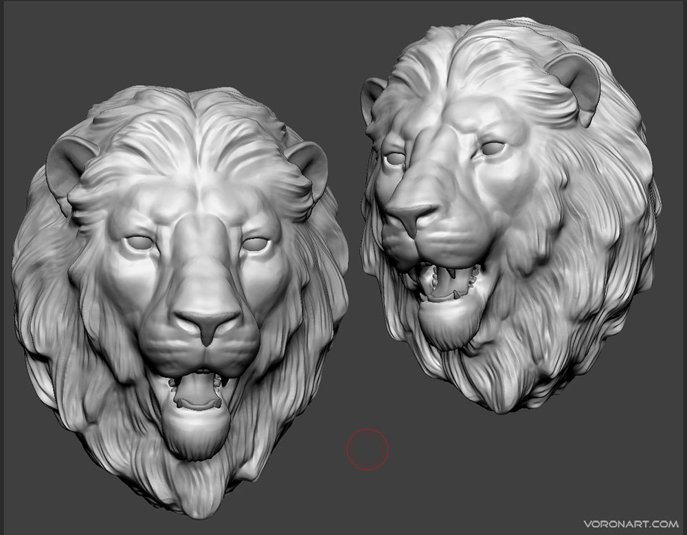 Lion head 3d-Sculpture. WIP