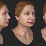 woman's 3d head. 45 years old