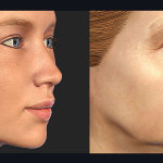 3d woman face age related changes. Hi res textures
