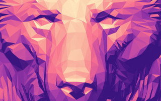 Bear head. Polygonal art Illustration