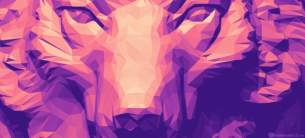 Wolf head. Polygonal art Illustration