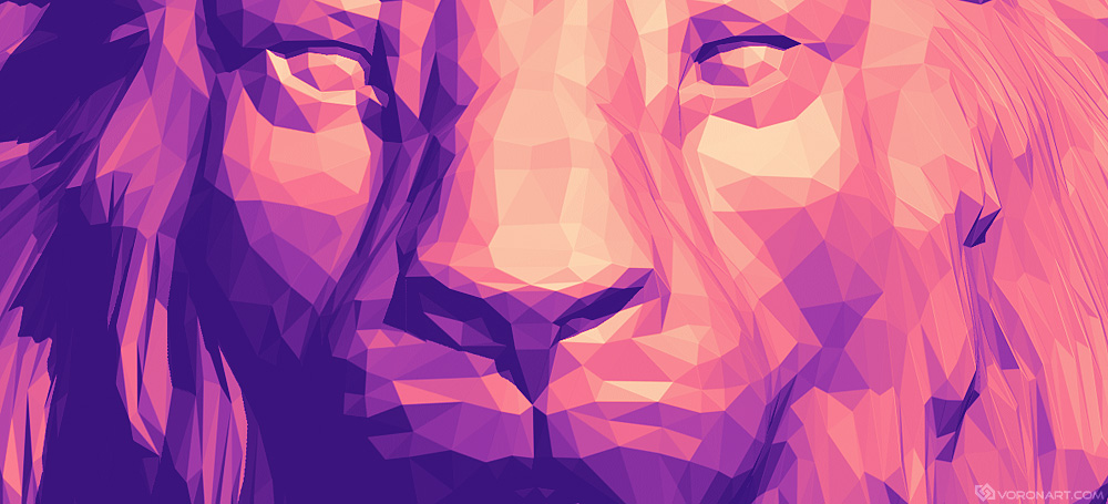 Lion head. Polygonal art Illustration