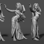 dancing girl high poly 3d model. zbrush sculpting
