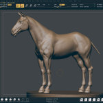 Horse 3d model. Zbrush sculpting