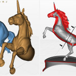Unicorn 3d-print ready. Hollow. high poly 3d model