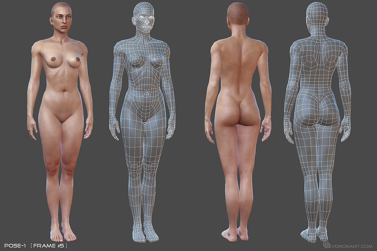 Fucking 3d erotic model