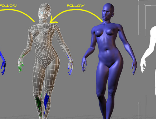 Posing of high poly 3D character