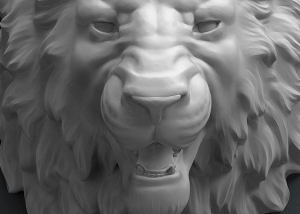 Angry Lion head 3d model. ready for 3d-printing, CNC milling