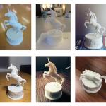Unicorn figurine 3d-print based high poly 3d model