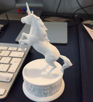 Unicorn figurine 3d-print on based high poly 3d model