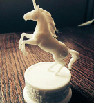 Unicorn figurine 3d-print based on high poly 3d model