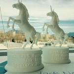 Unicorn figurine 3d-print based on high poly 3d model