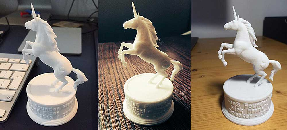 Unicorn figurine 3d-print based high poly 3d model